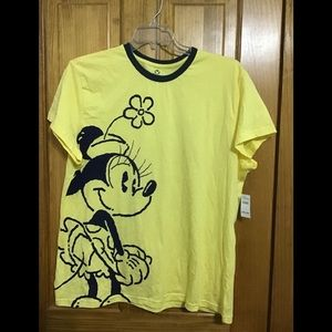 NWT Disney Minnie Mouse shirt yellow navy